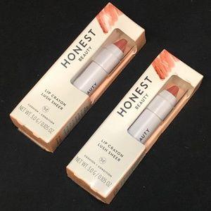 (2) Honest Beauty Lip Crayons - Sheer Blossom